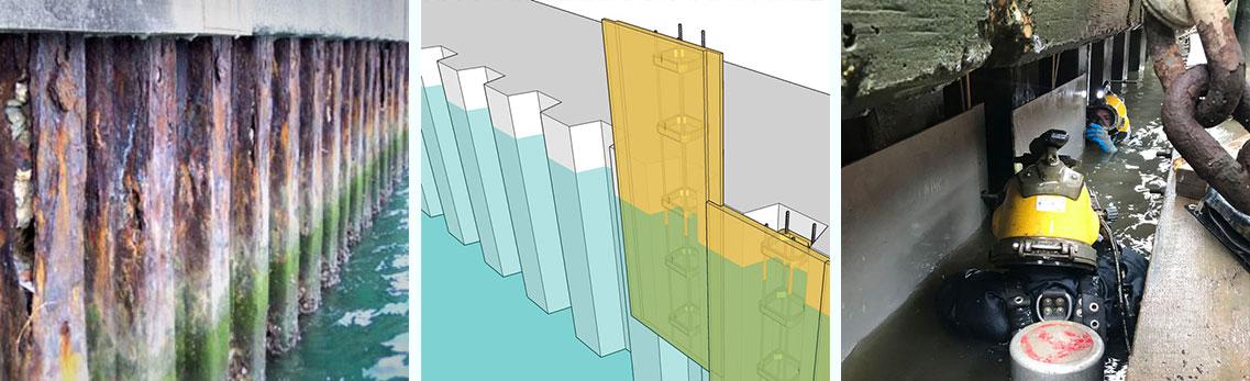 Quakewrap Steel Sheet Piles Seawalls And Bulkheads